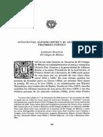 Anthony Stanton, Octavio Paz, Alfonso Reyes y El Análisis