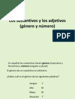 Sustantivos Adjetivos Genero y Numero