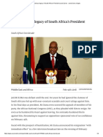 The Disastrous Legacy of South Africa's President Jacob Zuma