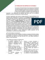 Trámites Para Formalizar Una Empresa en Guatemala
