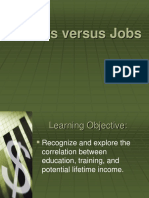career vs job powerpoint