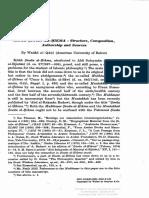 Wadād Al-Qāḍī - Kitāb Ṣiwān Al-ḥikma Structure, Composition, Authorship and Sources