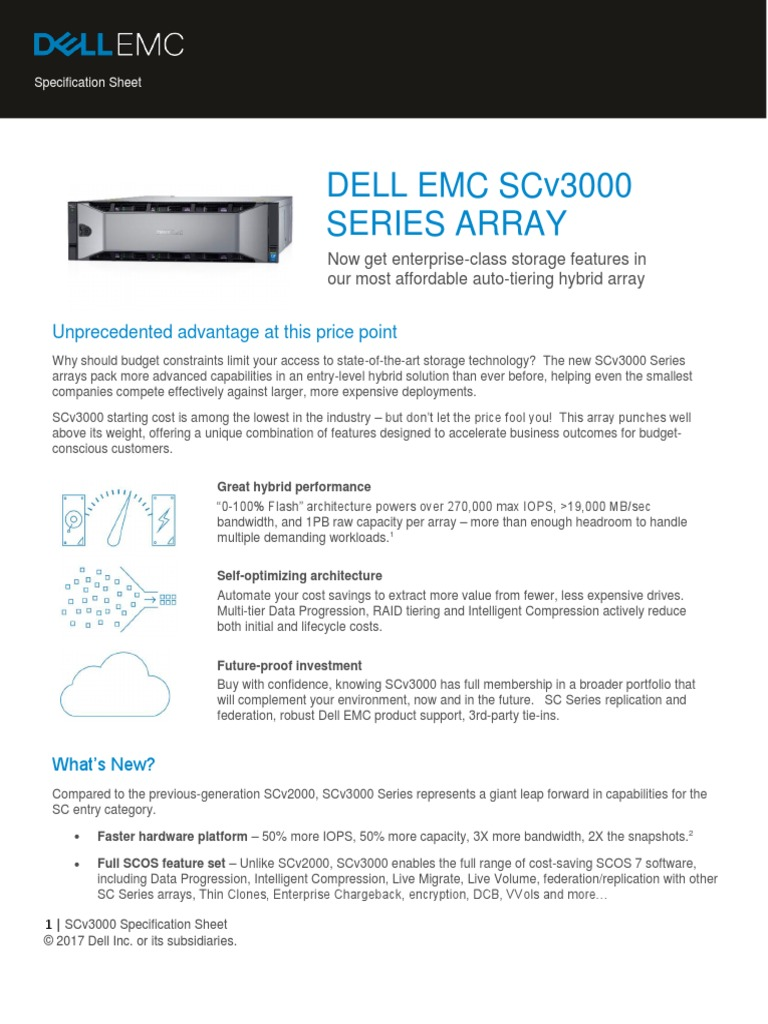 DELL EMC SERIE SC pdf | Solid State Drive | Hard Disk Drive