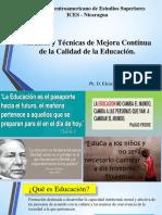Modelos y Técnicas de Mejora Contínua de La Educación