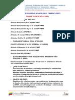 Inpsasel - Ing Dulvey Marquez - Programa de Salud y Seguridad en El Trabajo