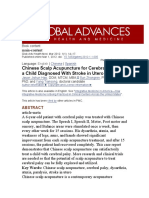 Chinese Scalp Acupuncture for Cerebral Palsy in a Child Diagnosed With Stroke in Utero