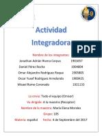 Actividad Integradora de Español