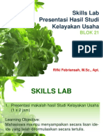 Skills Lab Studi Kelayakan Usaha