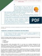 Montaje, Mantenimiento y Normas de Seguridad y Prevención de Riesgos en Las Instalaciones Solares Fotovoltaicas