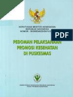 KepMenKes RI Tentang Pedoman Pelaksanaan Promosi Kesehatan Di Puskesmas (1)