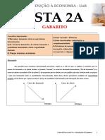 Gabarito Lista 2a 20111