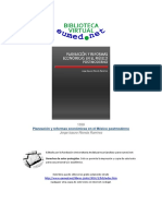 Planeación y Reformas Económicas en El México Postmoderno