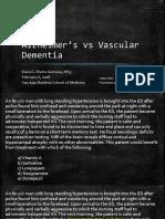 Alzheimer's vs Vascular Dementia