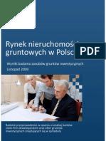 Rynek Nieruchomosci Gruntowych w Polsce Listopad 2009