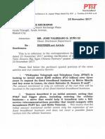 PSE Disclosure Nov. 23, 2017