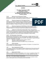 Sample Meeting Agenda