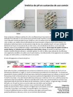 Determinación colorimétrica de pH en sustancias de uso común