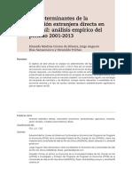 Los determinantes de la inversión extranjera directa en el Brasil