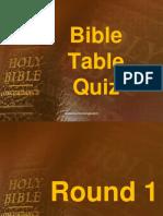 Bible Table Quiz 01