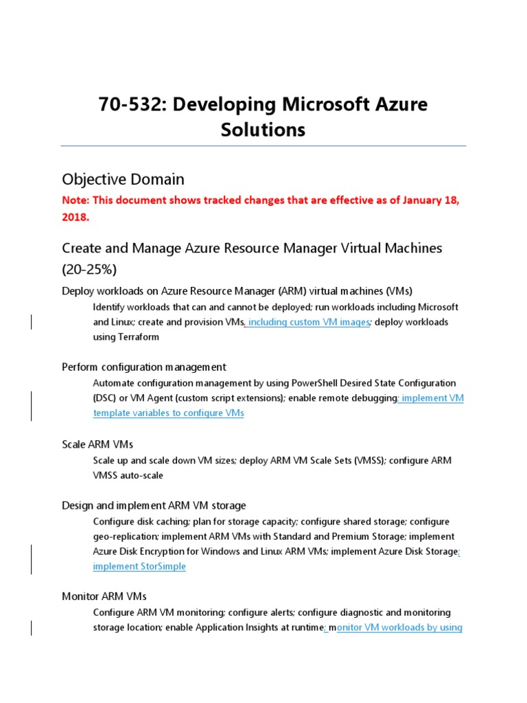 70-532 Exam | Microsoft Azure | Virtual Machine