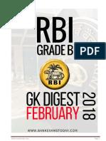RBI GK Digest February 2018