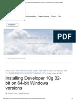 InstallingDeveloper10g 32-Bit on 64-Bit