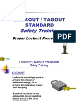 Lockout Tagout Standard Safety Training