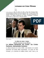Martin Scorsese en Tres Filmes