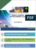 Market Sounding IPP Procurement for 2016 - R2(Autosaved)