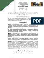 Acuerdo Nro. 07-Agosto 30 de 2010 do Ambiental