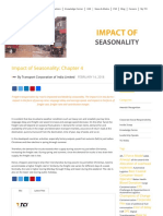 Impact of Seasonality on Freight transportation