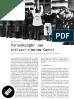 Parteidisziplin und antifaschistischer Kampf - Widerstand gegen den NS am Beispiel Düsseldorf Justiz   LOTTA #21