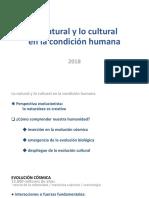 Lo Natural y Lo Cultural en La Condicion Humana