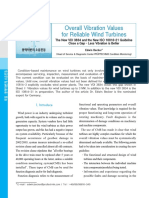 Overall Vibration Values for Reliable Wind Turbines