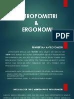 POWER POIN  ANTROPOMETRI & ERGONOMI