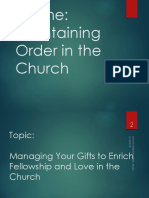Managing Your Gift to Enrich Fellowship and Love in the   Church.ppsx