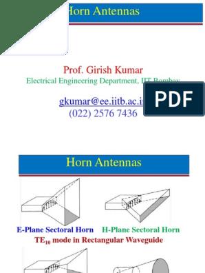 Horn Antennas Part 1 | Antenna (Radio) | Telecommunications