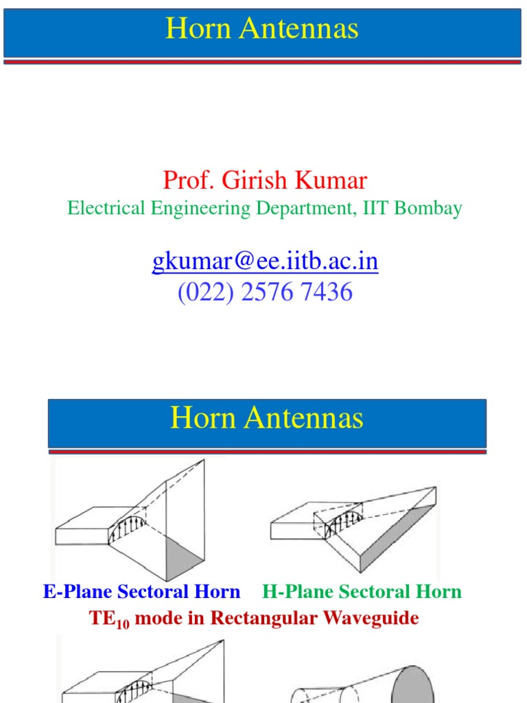 Horn Antennas Part 1   Antenna (Radio)   Telecommunications Engineering