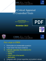 Rapid Critical Appraisal of Controlled Trials Annette Pluddemann