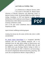 Dr. Sweta Gupta and Medicover Fertility Clinic