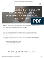12 Templates for Follow Up Emails After a Meeting, Conference, And More