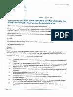 ED Decision 2016-036 Rules Traineeship