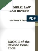 Esguerra Updated Criminal Law II - Bar Review 2016