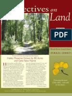 Wood River Land Trust Newsletter Fall 2007
