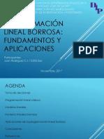 Programación Lineal Borrosa Fundamentos y Aplicaciones