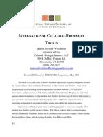 Werkheiser - Intl Cultural Property Trusts (US-ICOMOS 2010)