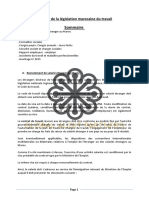Résumé de La Législation Marocaine Du Travail