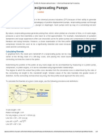 Flow Profile for Reciprocating Pumps _ Chemical Engineering Processing