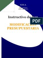 Instructivo Modificacion Presupuestaria