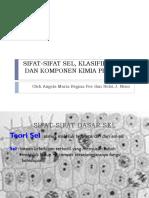 Sifat-sifat Sel, Klasifikasi Sel, Dan Komponen